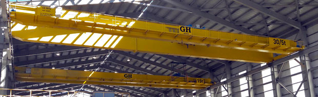 Top Running Double-Girder Overhead Cranes